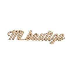 """Texto """"Mi Bautizo"""" 12 Uds."""
