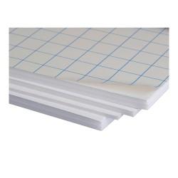Cartón pluma blanco con adhesivo 10mm