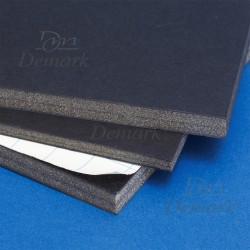 Cartón pluma negro con adhesivo 10 mm